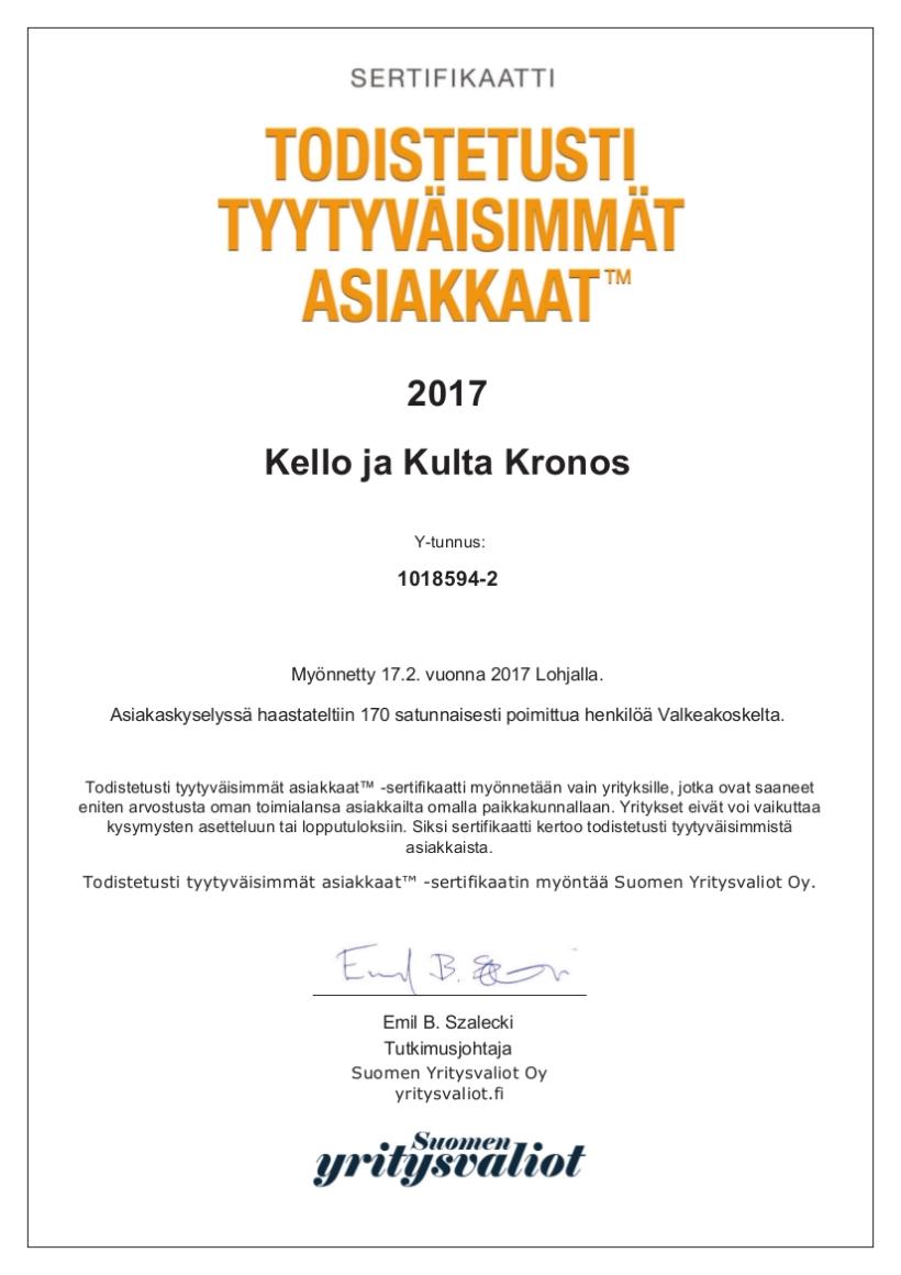 kello-ja-kulta-kronos-a4-sertifikaatti
